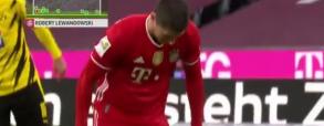 Gol Lewandowskiego w meczu z Borussią Dortmund! Bayern remisuje do przerwy 2:2 [WIDEO]