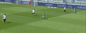 Zieliński zdobywa bramkę w meczu ze Spazią! Polak otwiera wynik meczu w 15. minucie [WIDEO]