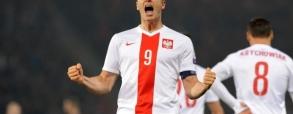 Pierwszy gol Lewandowskiego z Danią