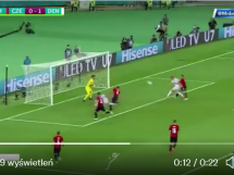 Gol i od razu piękna radość. Dolberg daje dwubramkową przewagę Danii!