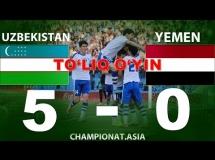 Uzbekistan 5:0 Jemen