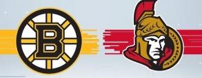 Ottawa Senators 1:1 Boston Bruins