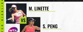 Magda Linette 2:0 Shuai Peng
