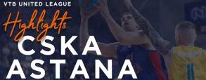 CSKA Moskwa 100:77 Astana