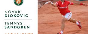 Novak Djoković 3:0 Tennys Sandgren