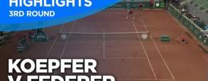 Roger Federer 3:1 Dominik Koepfer