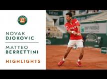 Novak Djoković 3:1 Matteo Berrettini