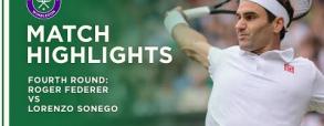 Roger Federer 3:0 Lorenzo Sonego