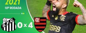 Santos 2:1 Flamengo