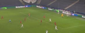 Lewandowski z dubletem w Lidze Mistrzów! Idealne uderzenie głową