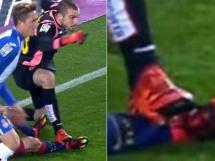 Pau Lopez brutalnie nadepnął Messiego